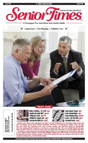 Senior Times - Legal Issues, Pre-planning, Palliative Care