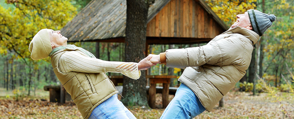 Senior Couple Playing